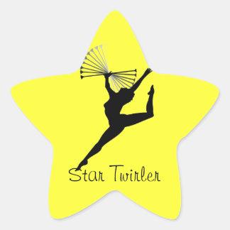 pegatinas del twirler de la estrella pegatina en forma de estrella