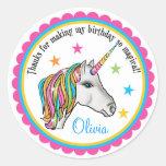 Pegatinas del unicornio, pegatinas de la fiesta de