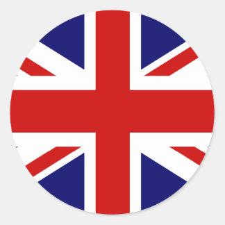 Pegatinas del Union Jack el | redondo Etiquetas Redondas