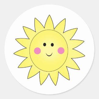 Pegatinas del verano de la sol pegatina redonda