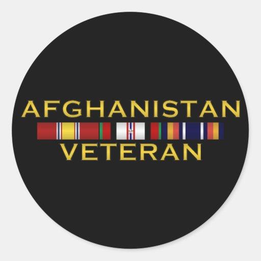 Pegatinas del veterinario de Afganistán Etiqueta Redonda