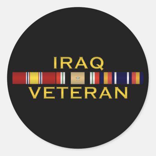 Pegatinas del veterinario de Iraq Etiqueta Redonda