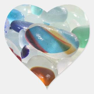 Pegatinas del vidrio del mar pegatina corazon