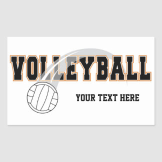 Pegatinas del voleibol pegatina rectangular