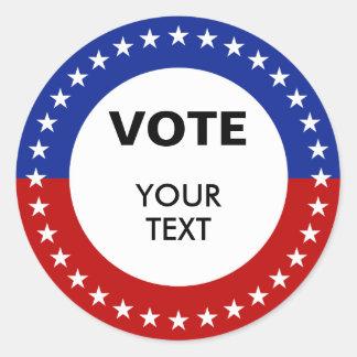 Pegatinas del voto etiqueta redonda