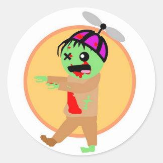 Pegatinas del zombi del gorra pegatinas redondas