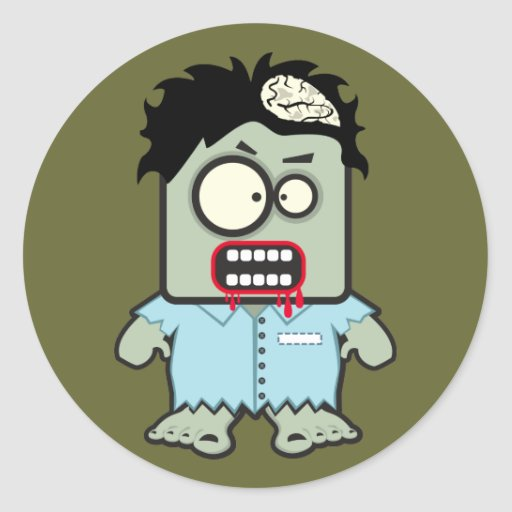 Pegatinas del zombi pegatina redonda