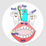 Pegatinas dentales de la higiene