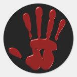 Pegatinas derechos sangrientos etiqueta redonda