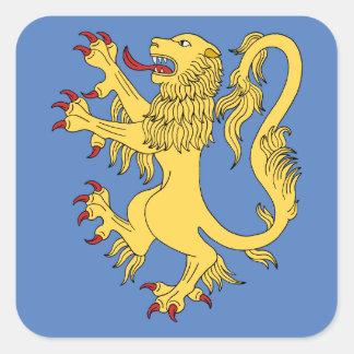 Pegatinas desenfrenados del león