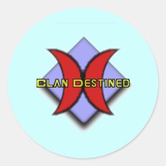 Pegatinas destinados del clan pegatina redonda