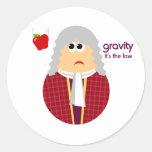 Pegatinas divertidos de Isaac Newton Etiquetas Redondas