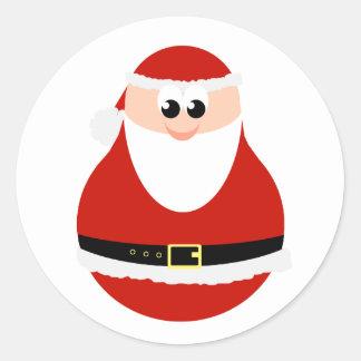 Pegatinas divertidos de Papá Noel del navidad
