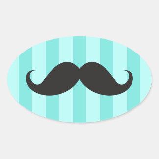 Pegatinas divertidos del bigote de las rayas negra