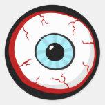 Pegatinas divertidos del dibujo animado de la bola pegatinas redondas