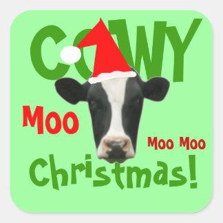 Pegatinas divertidos del navidad de Cowy de la vac