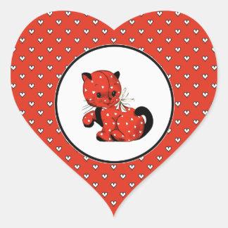 Pegatinas divertidos del regalo del el día de San Pegatina En Forma De Corazón