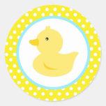 Pegatinas Ducky de goma del favor del pato