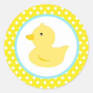 Pegatinas Ducky de goma del favor del pato Pegatinas Redondas