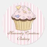 Pegatinas dulces de la panadería de la magdalena