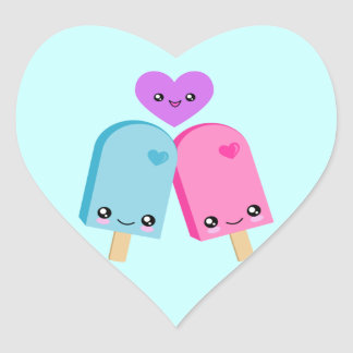 Pegatinas dulces del corazón de Kawaii del Pegatina En Forma De Corazón