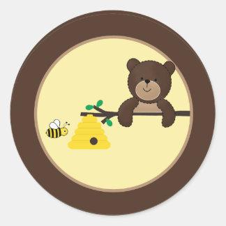 Pegatinas dulces del sello del sobre del oso y de pegatina redonda