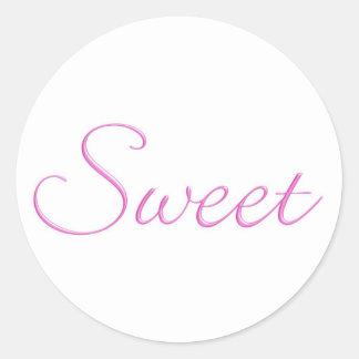 ¡Pegatinas dulces.! Pegatina Redonda