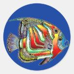 Pegatinas e imanes de la vida del océano pegatinas redondas