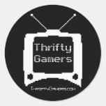 Pegatinas económicos de los videojugadores - pegatina redonda