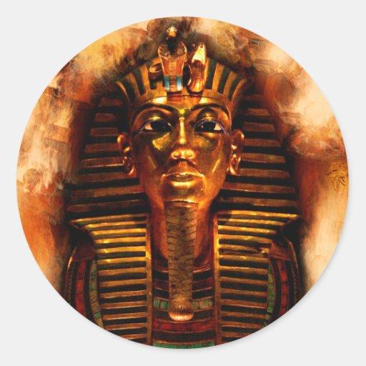 Pegatinas egipcios antiguos del Pharaoh de Pegatinas Redondas