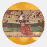 Pegatinas egipcios de ISIS Etiquetas Redondas