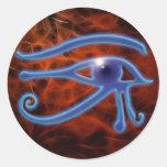 Pegatinas egipcios del arte de WADJET Pegatinas Redondas