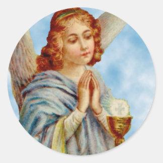 Pegatinas: El ángel reflexiona Pegatina Redonda