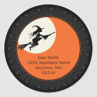 Pegatinas elegantes B de Halloween Etiquetas Redondas