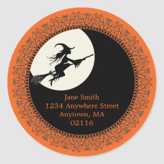 Pegatinas elegantes de Halloween Etiquetas Redondas