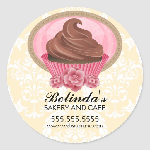 Pegatinas elegantes de la panadería de la etiquetas redondas