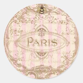 Pegatinas elegantes de Tre París o sellos del sobr