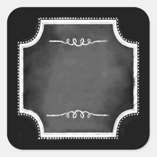 Pegatinas en blanco adaptables del cuadrado de la