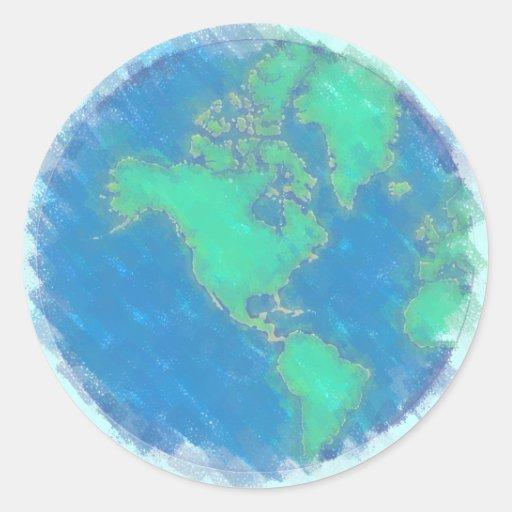 Pegatinas en colores pastel de la tierra pegatina redonda