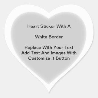 Pegatinas en forma de corazón con la frontera calcomanías de corazones personalizadas