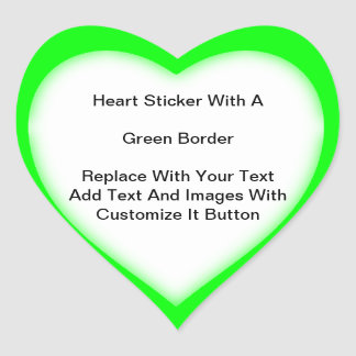 Pegatinas en forma de corazón con la frontera pegatina en forma de corazón