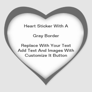 Pegatinas en forma de corazón con una frontera pegatina en forma de corazón