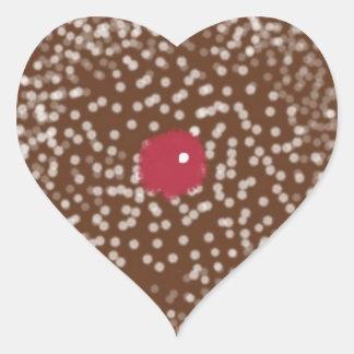 Pegatinas en forma de corazón de la galleta del pegatina en forma de corazón