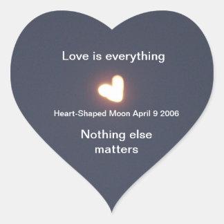 Pegatinas en forma de corazón de la luna calcomanías corazones