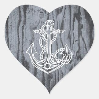 Pegatinas en forma de corazón del ancla pegatina en forma de corazón