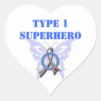 Pegatinas en forma de corazón del super héroe del pegatina en forma de corazón