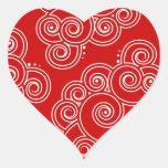 Pegatinas encantadores blancos de los corazones de pegatina en forma de corazón