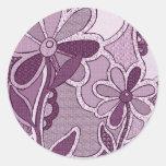 Pegatinas enrrollados de la flor pegatinas redondas