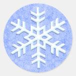 Pegatinas escarchados del copo de nieve