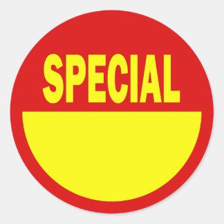 Pegatinas especiales de las ventas al por menor pegatina redonda